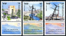 Israel 1084-1086 tabs, MNH. Elictrification. Power Stations, 1991