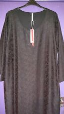 SHEEGO BLACK LACE TUNIC DRESS SIZE 30/32..BNWT