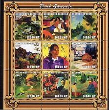 2001 MOZAMBIQUE -Pintura - Paul Gauguin -folha com serie - MNH #3883
