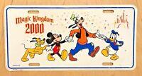DISNEY MAGIC KINGDOM 2000 DISNEYLAND DISNEY WORLD ORLANDO  FRONT LICENSE PLATE