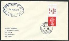 GB SCOTLAND 1970 cover COMMANDING OFFICER / A.C.S.BULLFINCH ship cachet....47961