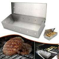 Stainless Steel BBQ Smoker Box Barbecue Grill Wood Chips Holder Cool Smoking Box