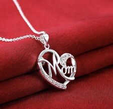 Women's Fashion Jewelry Silver Plated Heart mom Necklace and Pendant 59-1
