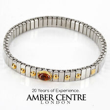 NOMINATION ITALIAN BRACELET WITH BALTIC AMBER in 18ct GOLD BAN129 RRP£245!!!