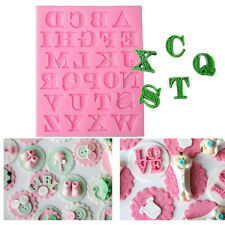 New Uppercase Letters Alphabet Cake Silicone Mold Soap Ice Cube Candy Mould