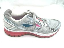 Brooks size 10.5AA Narrow Ghost silver pink running womens athletic tennis shoe
