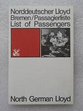 T/S Bremen Norddeutscher LLoyd Passagierliste 1970 First Class