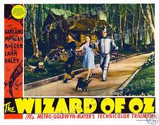 THE WIZARD OF OZ  LOBBY SCENE CARD # 6 POSTER 1939 DOROTHY TIN MAN SCARECROW