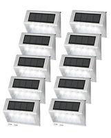 Solar Powered 4 LED Step Deck Outdoor Lamp Garden Yard Wall Fence Lights