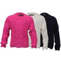 Niña Cable Suéter de Punto Infantil Pulóver Love Knitwear Cuello Redondo