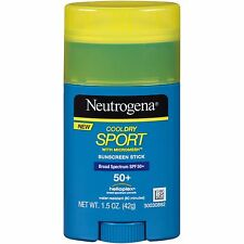 Neutrogena CoolDry SPORT Sunscreen Stick SPF 50 Broad UVA UVB New helioplex 1.5