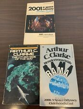 Lot of 3 Pb Sci-Fi- Books - 2001: A. Space Odyssey, Other Side of Sky - Clarke +