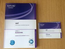 AAT level 4 kaplan budgeting book 2011-2012