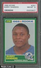 1989 Score Football #257 Barry Sanders Detroit Lions RC Rookie HOF PSA 8 NM-MT