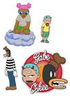 Hebru Brantley Sticker Pack Set - 4 Stickers Gaia Gabe & Oskee Hebru Brand