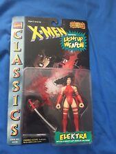 1996 Elektra NIP X-Men Classics Toy Biz Marvel Comics  Light Up Weapon Vintage