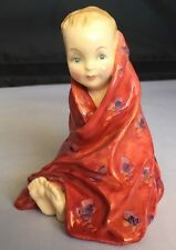 Royal Doulton Figurine This Little Pig Bone China Hn1793 Baby Red Blanket Toes