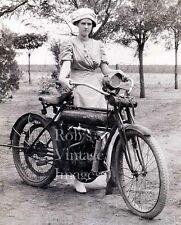 Flying Merkel Motorcycle photo1910 Lady in Sunday best Milwaukee Iron