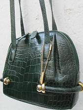 -AUTHENTIQUE  sac à main  BALLY  cuir   TBEG bag vintage 70's