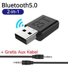2-in-1 Bluetooth Adapter Transmitter und Empfänger TV PC Audio Sender 3.5mm NEU