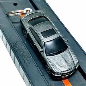 Maisto Adventure Force Metallic Dark Gray 2011 Dodge Charger R/T 1:64 Keychain