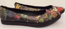 Elliott Lucca Bala Autumn Botanica Floral Pointed Toe Flats Size 6.5 M