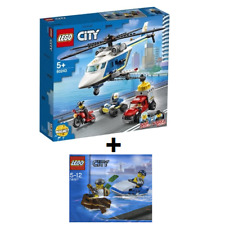 LEGO CITY Police Helicopter Chase set 60243 + Police Watercraft Polybag