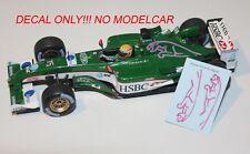 decal Jaguar R4 PINK JAGUAR Monaco GP 2003 Webber Pizzonia 1/43 minichamps