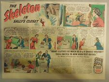 Oxydol Soap Ad: The Skeleton in Sally's Closet ! from 1940's