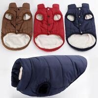 Pet Dog Winter Soft Warm Coat Sweater Puppy Fleece Vest Jacket Clothes XS-XXL