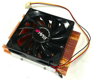 Low Profile SOLID Copper Heat sink with fan for General use 106 x 60 x 34.5 mm.