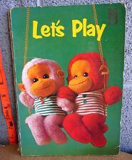 LET'S PLAY beat-up book Whitman 1968 Froebel-Kan weird dolls Japan