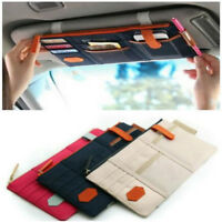 Car Sun Visor Point Pocket Organizer Pouch Bag Pocket Card Storage CD Holder TK