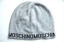 dae29658029bb MOSCHINO Grey Black Lightweight WOOL CASHMERE BEANIE Hat OSFA MADE IN ITALY