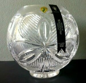 """HOUSE OF WATERFORD - FINE IRISH CRYSTAL 8"""" SHAMROCK ROSE BOWL - MINT IN BOX"""