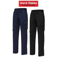 Womens Hard Yakka Work Pants Gen Y Cotton Drill Cargo Tough Tradie Strong Y08850