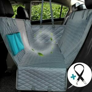 carXS Heavy Duty Waterproof Floor Mat+Pet Car Seat Covers for Dog Cat Mud Snow