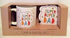 Super Duper Dad - Mug & Coaster - Gift Set - Brand New