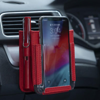 Multifunctional Car Pocket Automotive Air Vent Mobile For iPhone Storage Pouch