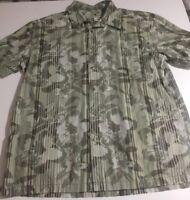 Island Shores Men's Size XL Short Sleeve Floral Hawaiian Camp Shirt 100% Cotton