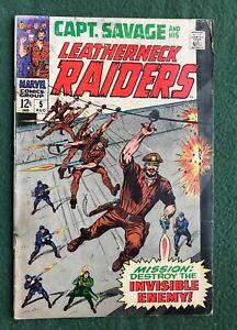 Capt Savage And His Leatherneck Raiders #5 Marvel Comics Silver Age war pr/fr
