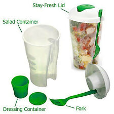 Lunch To Go Shaker With On The Go Dressing Fruit Container Salad Serving Cup