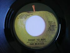 """The Beatles Ticket To Ride / Yes It Is 7"""" Vinyl US Apple 1971 Press Single"""