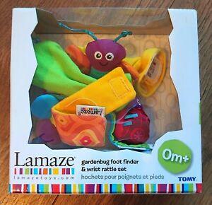 Lamaze Garden Bug Foot Finder and Wrist Rattle Set
