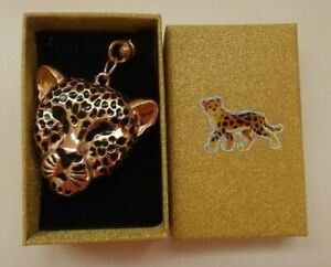 Leopard key ring / bag charm with decorated gift box