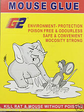 Pack Of 5 Book MOUSE GLUE PAD- KILL RAT & MOUSE WITHOUT POISONS- ENVIRONMENT FRI