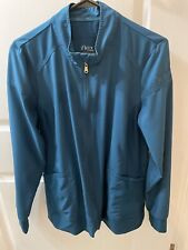 Cherokee iflex Black Scrub Zip Front Warm Up Jacket With Pockets Size Medium