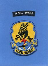 USS Wasp CV 18 Navy Jacket Patch with Shoulder Tab