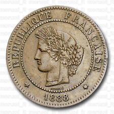 MORUZZI Troisième République 5 Centimes Cérès 1888 TTB+