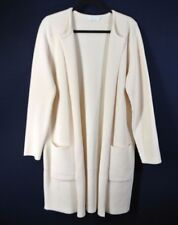 NEW HUGO BOSS FIVANA' VISCOSE BLEND OPEN FRONT RIBBED CARDIGAN-L $625 Beige